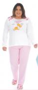 Pijama Feminino De Inverno Plus Size Canelado - Victory Ref: 21134