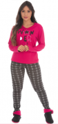Pijama Feminino De Inverno Sweet Canelado - Victory Ref: 21101