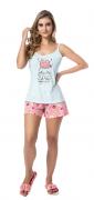 Pijama Feminino De Verão Alça Fina-Victory Ref:21018