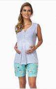 Pijama Feminino De Verão Bermudoll Gestante-Victory 21044