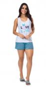 Pijama Feminino De Verão Regata-Victory Ref:21011