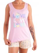 Pijama Feminino De Verão Short Doll Regata-Victory Ref:21003