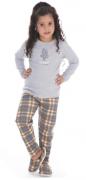 Pijama Feminino Infantil de Inverno Canelado  Victory - 21124
