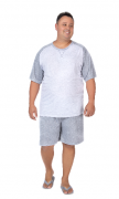 Pijama Masculino De Verão Plus Size-Victory-Ref:21065
