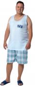 Pijama Masculino De Verão Regata Plus Size-Victory Ref:21064