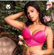 Toque Secreto-Ref: 122A Sutiã Cropped
