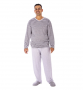 Pijama Masculino De Inverno Meia Malha Plus Size-Victory 20142