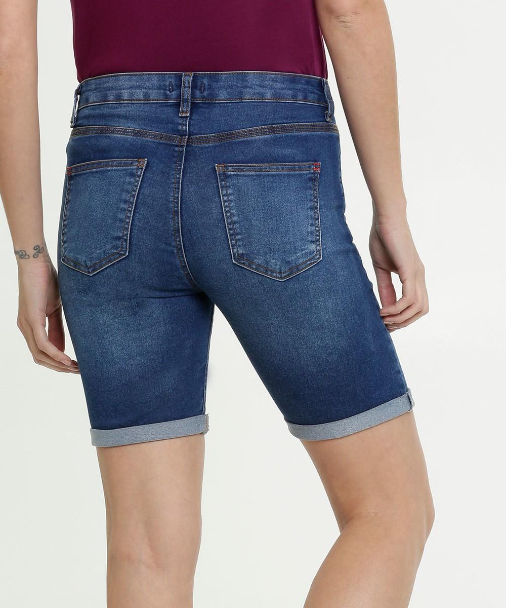 Bermuda Basica Jeans Feminina-YD 70061