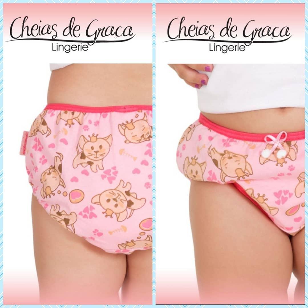 Calcinha Baby Algodão Avulsa -Cheias De Graça 259