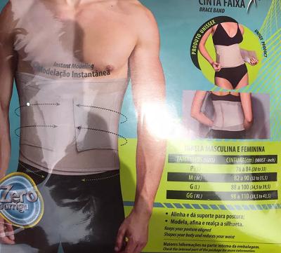 Cinta Faixa Modeladora Unissex Esportiva-Doctor Secret Ref:137824