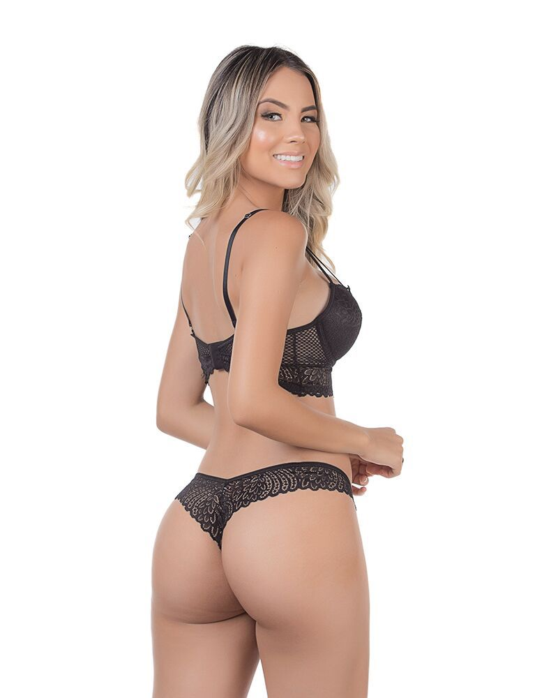 Conjunto de Lingerie Cropped Rendado - Dy Any 1788