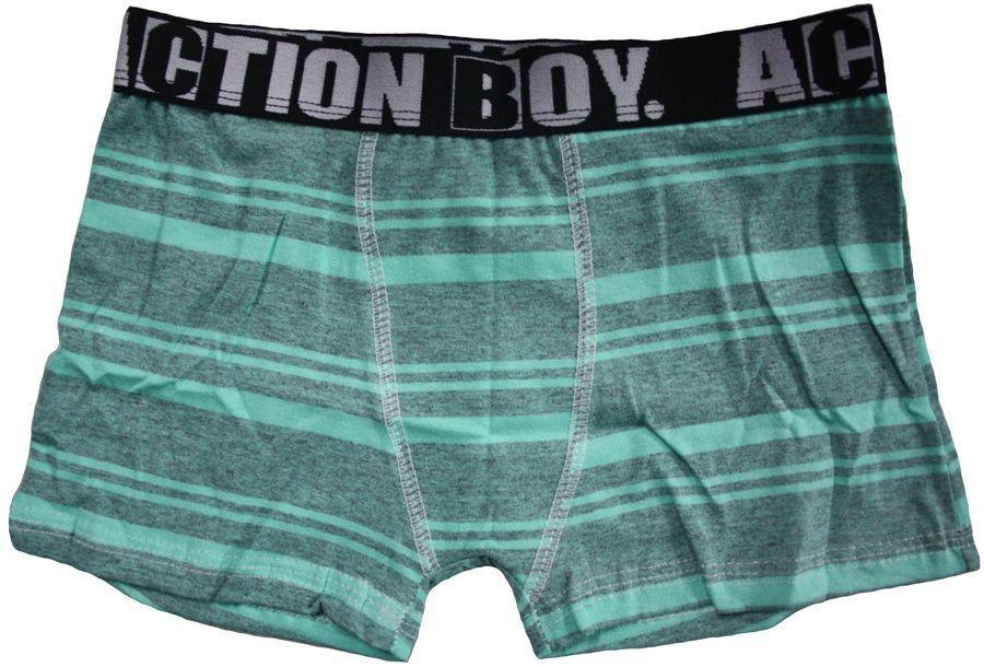 Cueca Boxer Infantil Algodão Estampada - Action Boy Ref 30