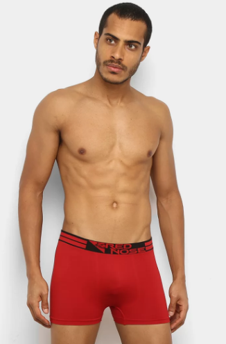 Cueca Boxer Micro Sem Costura-Red Nose Ref:2411003