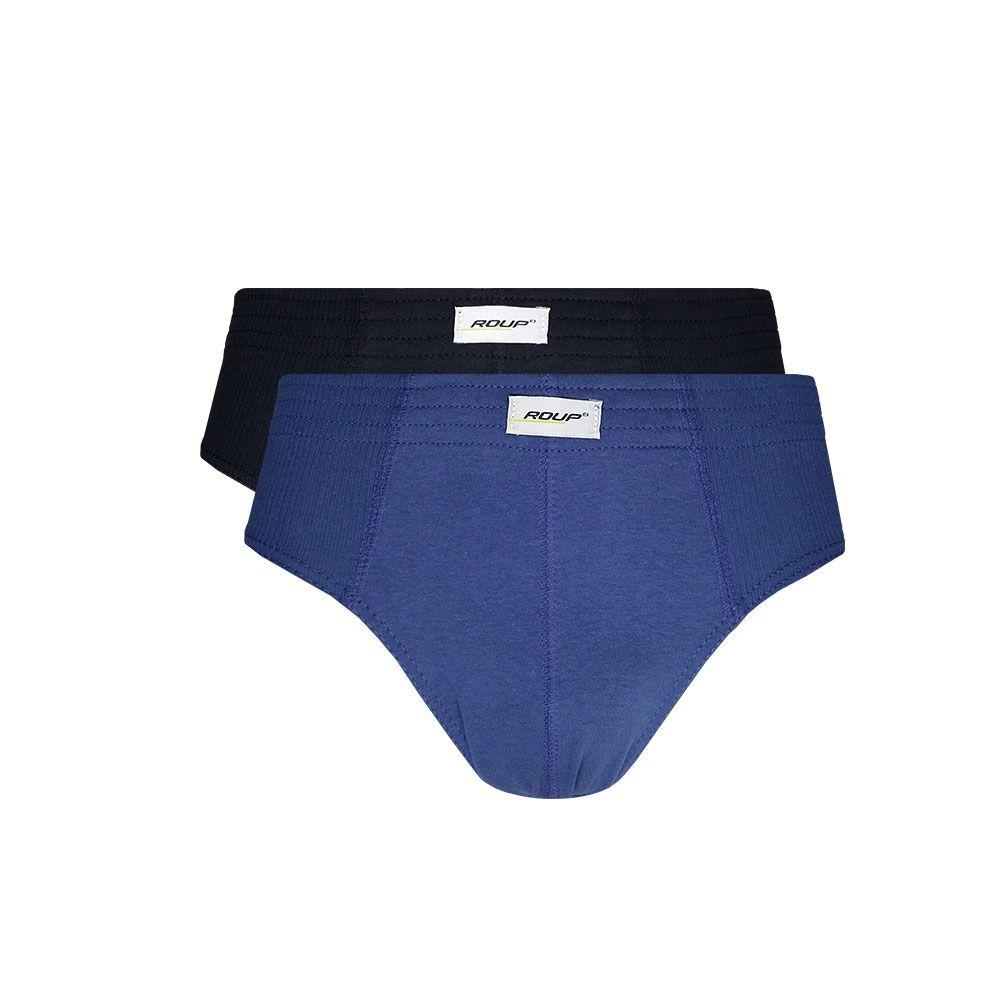 Kit c/ 2 Cuecas Slip Normal Plus Size - Roup E012 (Preço Unitário R$15,90)