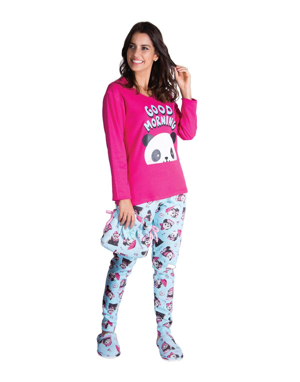 Pijama Adulto Feminino Inverno Canelado Sweet - Victory 19101