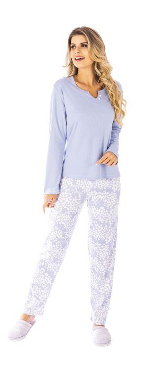 Pijama De Inverno Feminino Canelado-Victory 20103