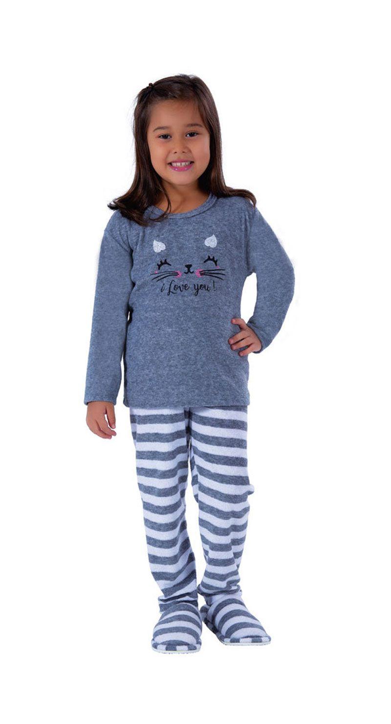 Pijama de Inverno Infantil Plush - Victory 19157