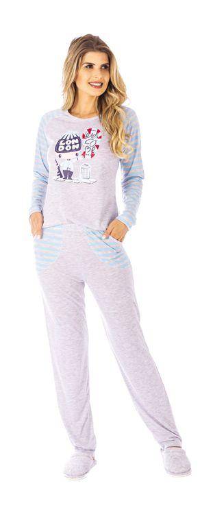 Pijama De Inverno Meia Malha-Victory 20116