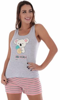 Pijama de Verão Short Dool Regata Meia Malha Victory - Ref 22001
