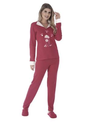 Pijama Feminino De Inverno Canelado-Victory 20110