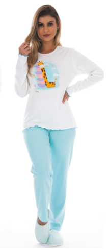 Pijama Feminino De Inverno Peluciado Dengoso - Victory Ref: 21108