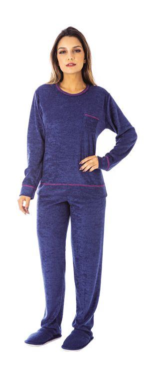 Pijama Feminino De Inverno Plush- Victory 20111