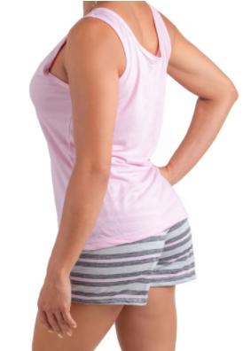 Pijama Feminino De Verão Short Doll Regata-Victory Ref:21001