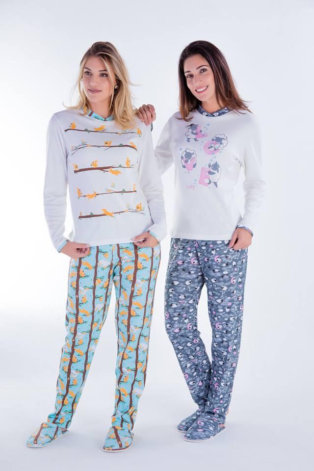 Pijama Feminino Inverno Adulto Canelado - Victory 18106