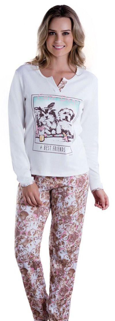 Pijama Feminino Inverno Adulto - Victory 17106