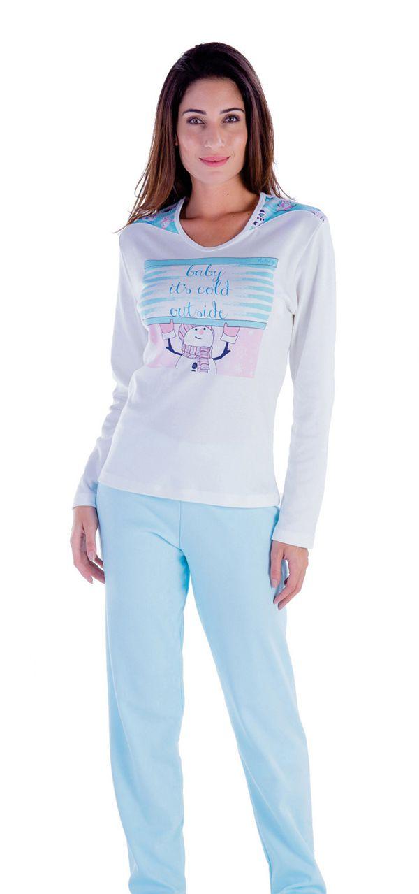 Pijama feminino inverno adulto Victory ref. 18100