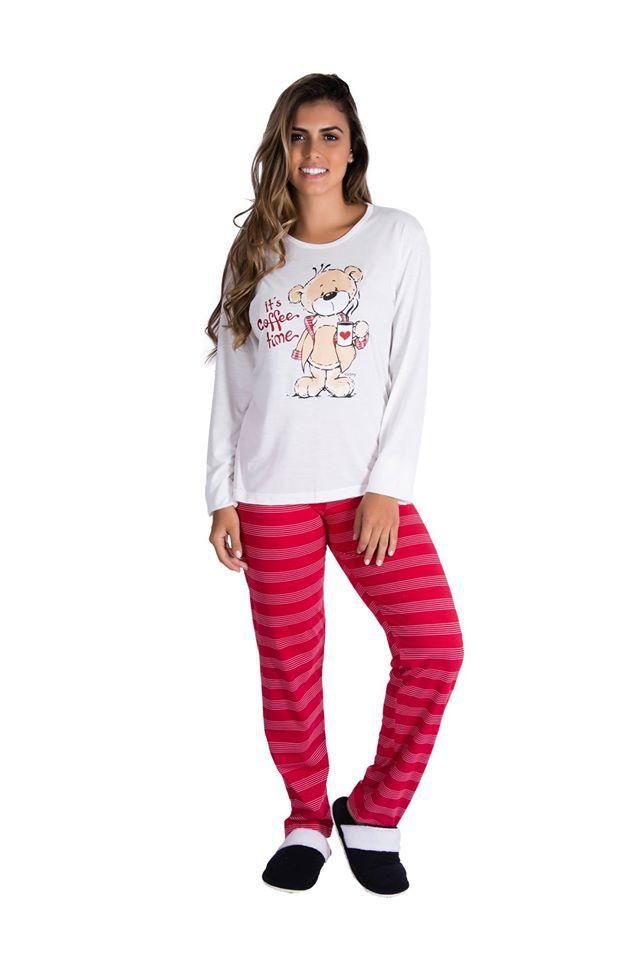 Pijama Feminino Inverno Meia Malha-Victory 18121