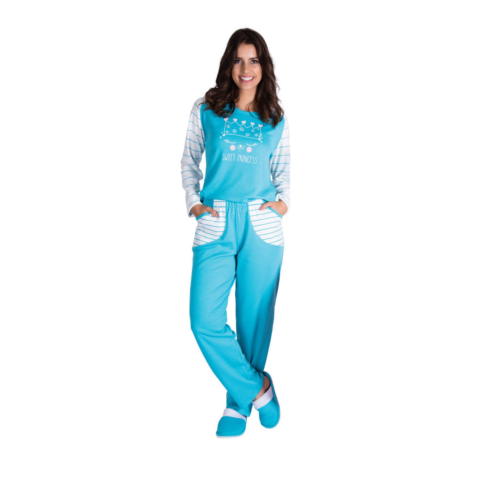Pijama Feminino Inverno Peluciado - Victory 19118