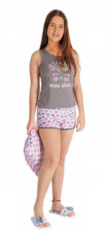 Pijama Feminino Juvenil Short Doll Nadador - Victory 20058