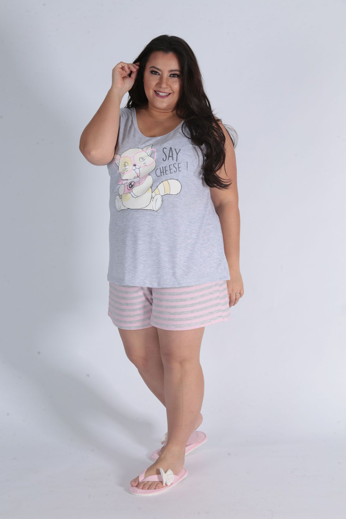 Pijama Feminino Plus Size Short Doll Regata - Victory 20050