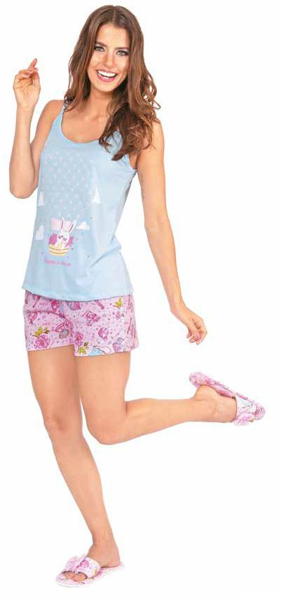 Pijama Feminino Short Doll Alça - Victory 20020