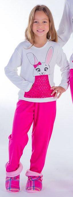 Pijama Infantil Feminino Inverno Canelado – Victory 18142
