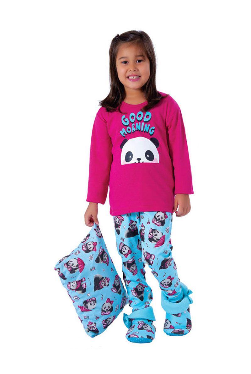 Pijama Infantil Inverno Canelado Sweet - Victory 19154