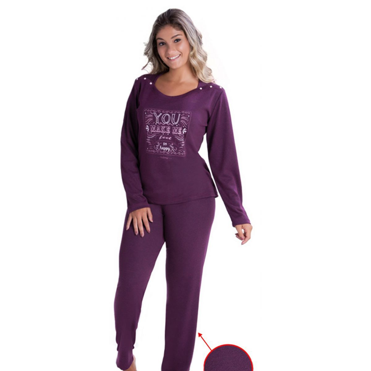 Pijama Inverno Canelado-Victory 17104