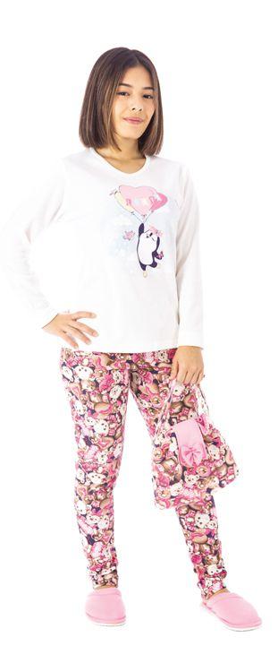 Pijama Inverno Feminino Canelado Juvenil-Victory 20151