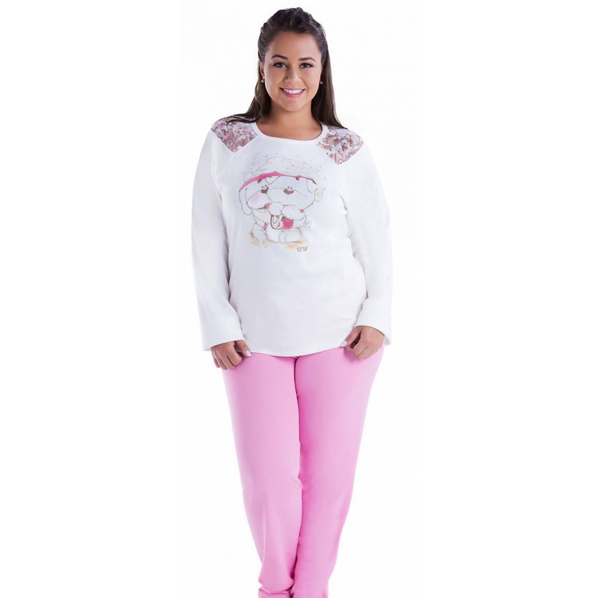 Pijama inverno feminino Plus Size - Victory 17129