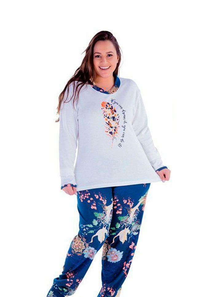 Pijama Inverno Feminino Plus Size - Victory 18126