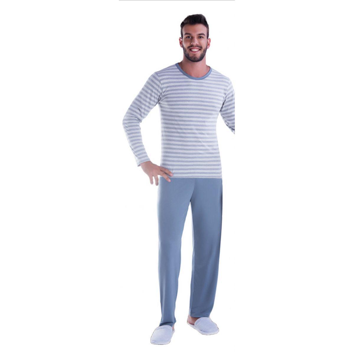 Pijama Masculino de Inverno Listrado - Victory 17135