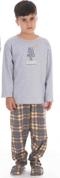 Pijama Masculino Infantil de Inverno Canelado  Victory  Ref 21121