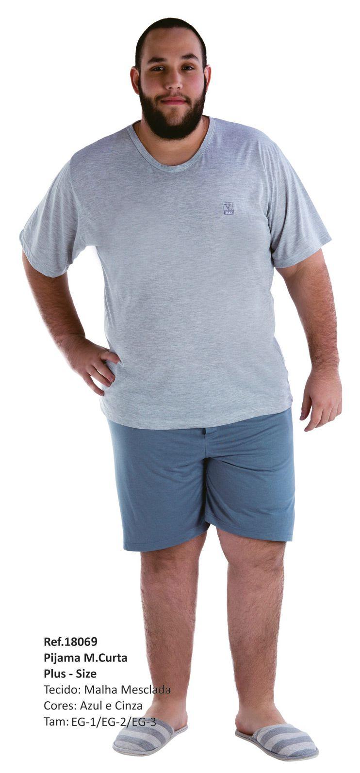 Pijama Masculino Verão Plus Size - Victory 18069