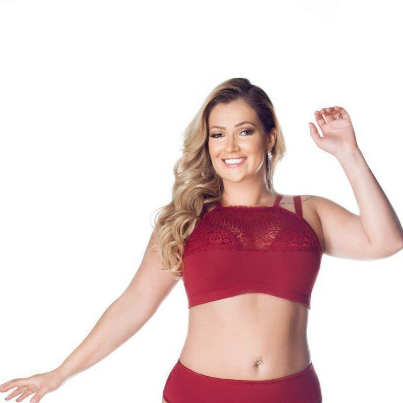 Sutiã Cropped Renda Plus Size - Nayane Rodrigues 441