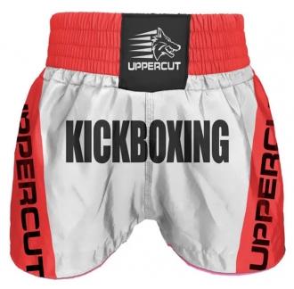 Calção Short Kickboxing - Premium BR - Branco/Vermelho