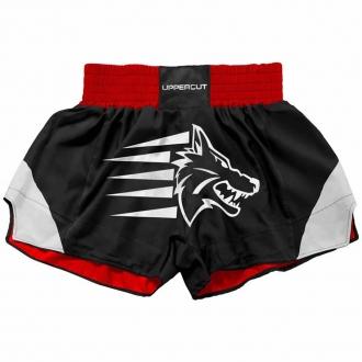 Calção Short Muay Thai Kickboxing Big Wolf ST5 - Preto/Verm