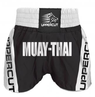Calção Short Muay Thai Premium BR - Preto/Branco