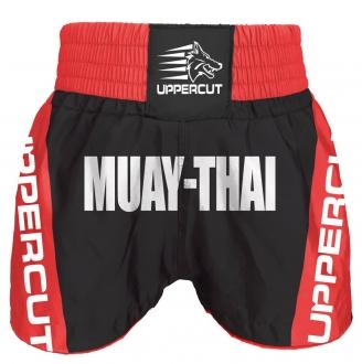 Calção Short Muay Thai - Premium BR - Vermelho/Preto