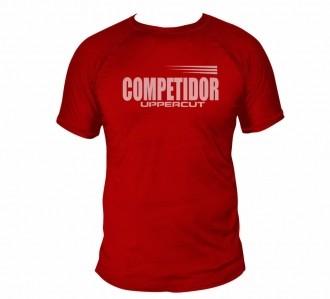 Camisa Esportiva Competidor - Dry Fit UV50+ - Vermelha